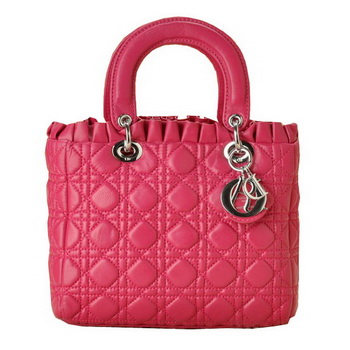 Christian Lady Dior Double-Strap Bag 6325 Peach