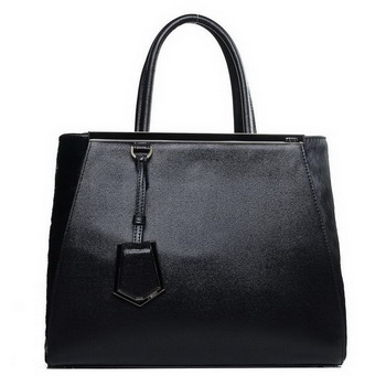 Fendi 2Jours Medium Tote Bag Horsehair 2552M Black