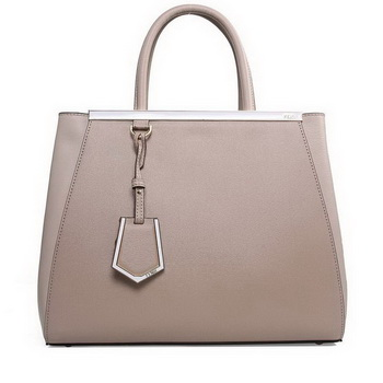 Fendi 2Jours Medium Tote Bag Original Leather 2552M Grey