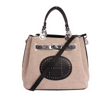 Hermes Mini So Kelly 30CM Bag Black Canvas H8029 Silver