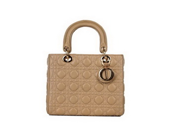 Lady Dior Bag Sheepskin Leather Small Bag CD6322 Apricot