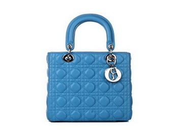 Lady Dior Bag Sheepskin Leather Small Bag CD6322 Light Blue