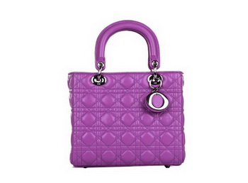 Lady Dior Bag Sheepskin Leather Small Bag CD6322 Light Purple