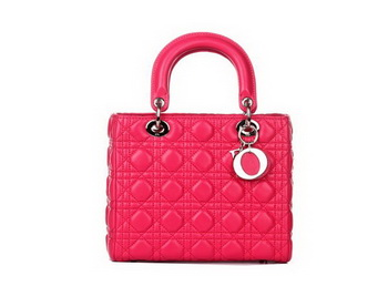 Lady Dior Bag Sheepskin Leather Small Bag CD6322 Rosy