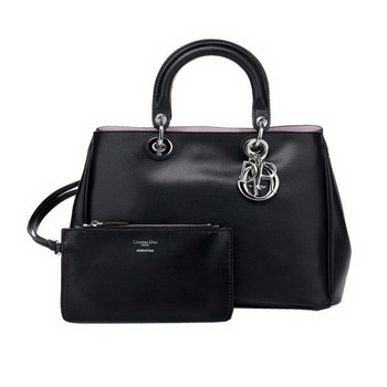 Dior Small Diorissimo Bag Nappa Leather D0902 Black