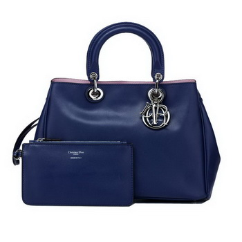Dior Small Diorissimo Bag Nappa Leather D0902 Blue