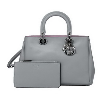 Dior Small Diorissimo Bag Nappa Leather D0902 Grey