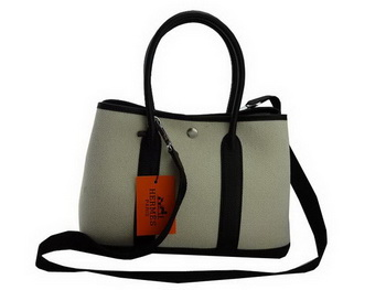 Hermes Garden Party 30CM Bag Fabric Black