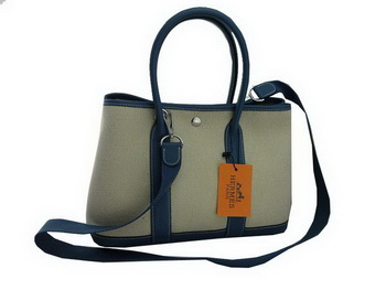 Hermes Garden Party 30CM Bag Fabric Blue