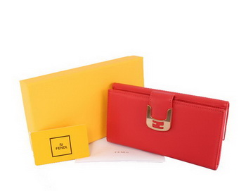 Fendi Zucca Wallet Calfskin FD0293 Light Red