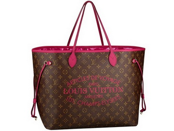 2013 Latest Louis Vuitton Monogram Canvas Neverfull GM M40876 Indian Rose
