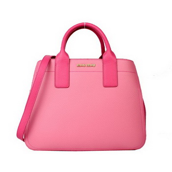 miu miu Calf Leather Tote Bag 88064 Pink