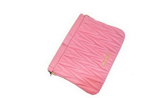 miu miu Matelasse Lambskin Leather Clutches 81154 Pink