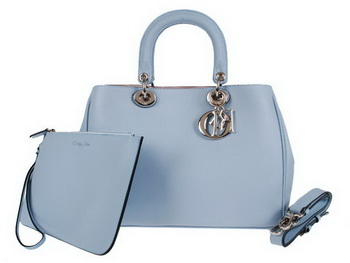 Dior Small Diorissimo Bag Nappa Leather D0902 Light Blue