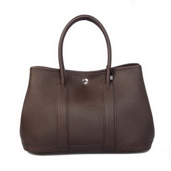 Hermes Garden Party 30CM Bag Calf Leather A1288 Brown