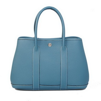 Hermes Garden Party 30CM Bag Calf Leather A1288 SkyBlue