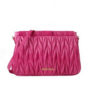 miu miu Matelasse Bright Leather Clutches 88080 Peach