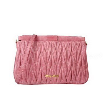 miu miu Matelasse Bright Leather Clutches 88080 Pink