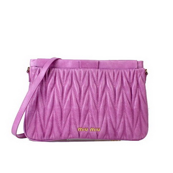 miu miu Matelasse Bright Leather Clutches 88080 Purple