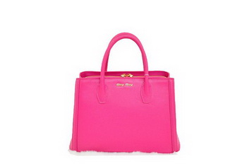 miu miu Two-Tone Suede Calf Leather Tote Bag BN0883 Peach