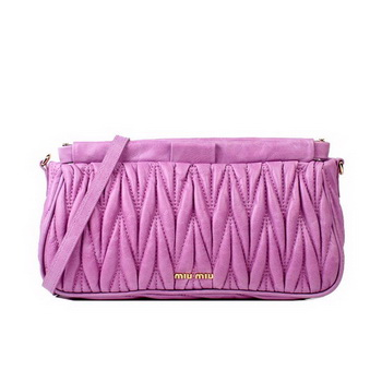 miu miu Matelasse Bright Leather Clutches 88081 Purple