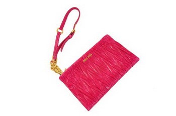 miu miu Matelasse Bright Leather Clutches M1710 Peach