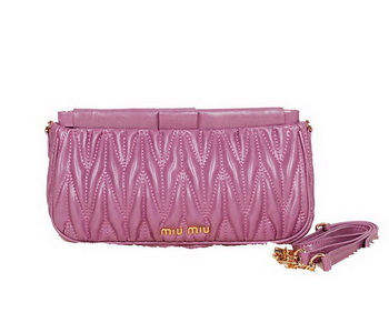 miu miu Matelasse Bright Leather Clutches 88102 Purple