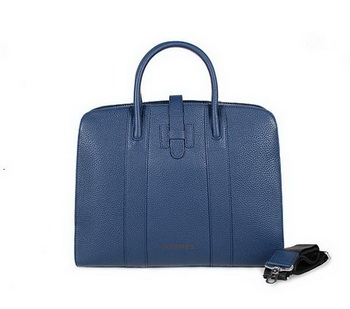 Hermes Mens Briefcase Calf Leather 9396-5 RoyalBlue