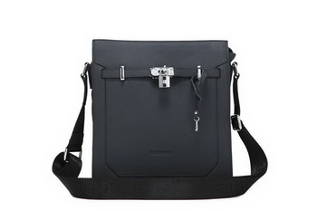 Hermes Mens Messenger Bags Calf Leather 52232-4 Black