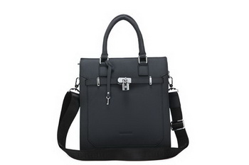 Hermes Mens Tote Bag Calf Leather 52232-3 Black
