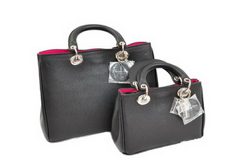 Dior Diorissimo Bag Nappa Leather D0902 Black