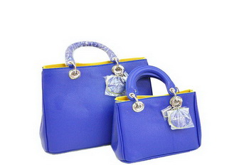 Dior Diorissimo Bag Nappa Leather D0902 Blue