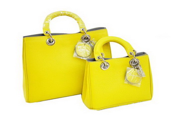 Dior Diorissimo Bag Nappa Leather D0902 Lemon