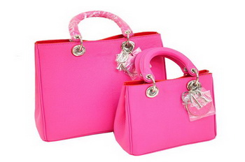 Dior Diorissimo Bag Nappa Leather D0902 Rose