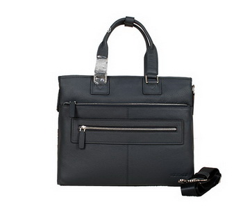 Hermes Mens Briefcase Calf Leather 3302-2 RoyalBlue