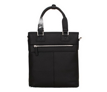Hermes Mens Tote Bag Calf Leather 3302-2 Black