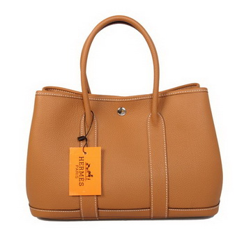 Hermes Garden Party 30CM Bag Calf Leather A1288 Camel