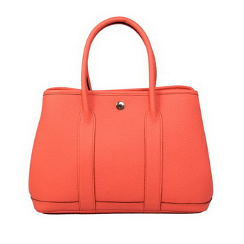 Hermes Garden Party 30CM Bag Calf Leather A1288 Light Red