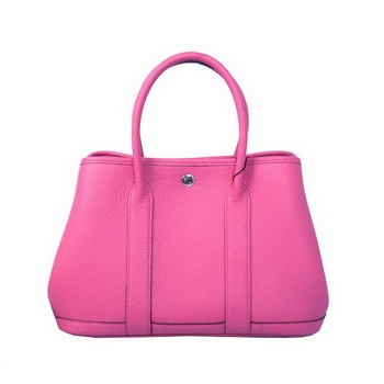 Hermes Garden Party 30CM Bag Calf Leather A1288 Rose