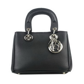 Dior mini Diorissimo Bag Grainy Leather D2013 Black