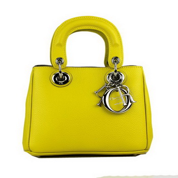Dior mini Diorissimo Bag Grainy Leather D2013 Yellow