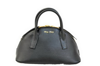 miu miu Original Leather Top-handle Bag RN0091 Black