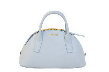 miu miu Original Leather Top-handle Bag RN0091 Light Blue