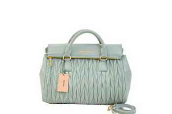 miu miu Matelasse Nappa Leather Top-Handle Bag RN0947 Light Blue
