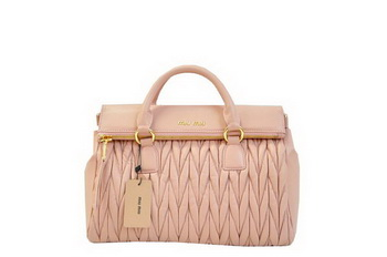 miu miu Matelasse Nappa Leather Top-Handle Bag RN0947 Light Pink