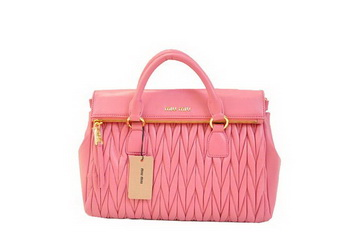 miu miu Matelasse Nappa Leather Top-Handle Bag RN0947 Pink