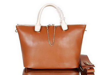 Chloe Baylee Small Leather Tote Bag C0168 Camel&Apricot