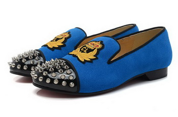 Christian Louboutin INTERN FLAT CL1340 Blue Suede