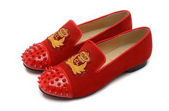 Christian Louboutin INTERN FLAT CL1340 Red Suede