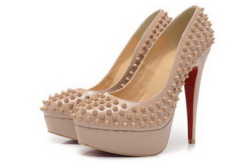 Christian Louboutin Lady Spikes 140MM Platform CL1336 Apricot